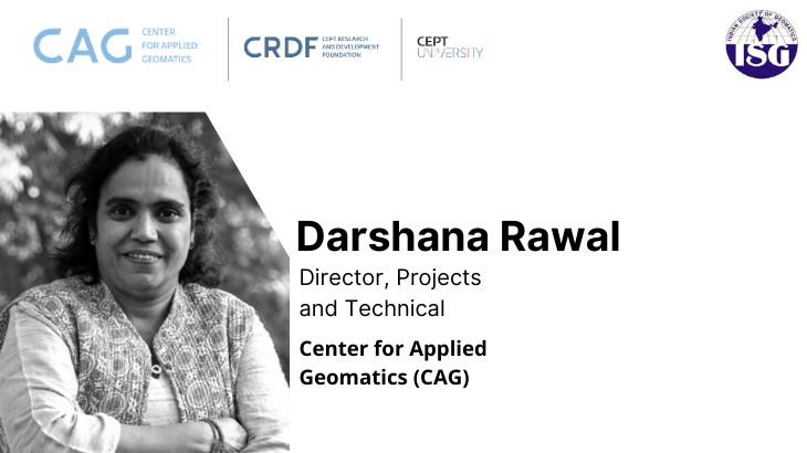 Darshana Rawal receives honour by Indian Society of Geomatics (ISG)