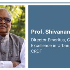 Prof. Shivanand Swamy presented on integrated transport for sustainable mobility