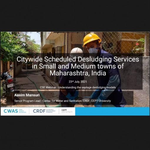CWAS team member presents at Webinar on Understanding Septage Desludging Models