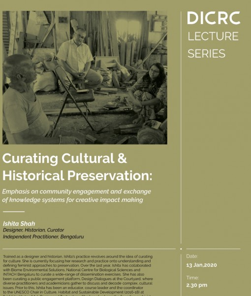 A talk on Curating culture and preservation by Ishita Shah