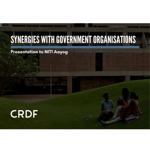 CRDF and CEPT presented to Niti Aayog on 'Synergies with government  organisations'