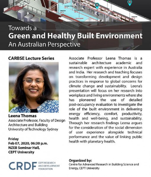 """Towards a Green and Healthy Built Environment – An Australian Perspective""  by Leena Thomas"