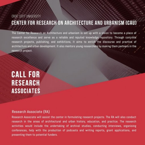 Call for Research Associates - CAU