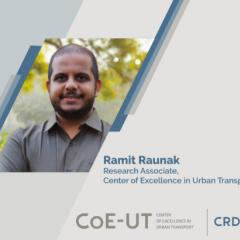 Ramit Raunak of CoE-UT participated in World Bank Youth Summit 2021