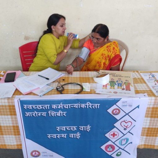 Workshop and health camp for sanitation workers of Wai