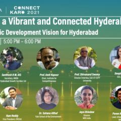 Prof. Shivanand Swamy joined a session on 'vibrant and connected Hyderabad' at WRI's annual event