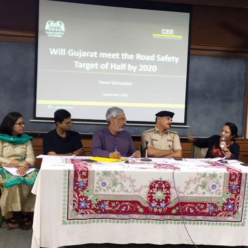 Nitika Bhakuni speaks at a panel on road safety