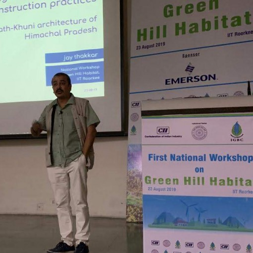 Jay Thakkar speaks at First National Workshop on Green Hill Habitat at IIT Roorkee